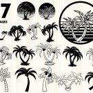 Palm Tree Digital Art SVG, PNG, dxf, jpg Digital Download