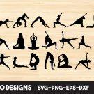 Yoga bundle Digital Art SVG, PNG, EPS, dxf, jpg Digital Download