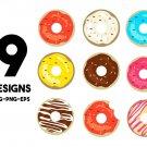 Donut, Doughnut Digital Art SVG, PNG, EPS, dxf, jpg Digital Download