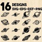 Saturn Planet Astronomy Digital Art SVG, PNG, EPS, dxf, jpg Digital Download