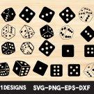 Dice Bundle Digital Art SVG, PNG, EPS, dxf, jpg Digital Download