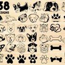 Dog bundle Digital Art SVG, PNG, EPS, dxf, jpg Digital Download