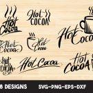 Hot Cocoa Digital Art SVG, PNG, EPS, dxf, jpg Digital Download