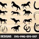Horse silhouette Digital Art SVG, PNG, EPS, dxf, jpg Digital Download