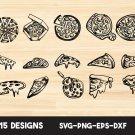 Pizza bundle Digital Art SVG, PNG, EPS, dxf, jpg Digital Download