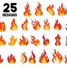 Fire bundle Digital Art SVG, PNG, EPS, dxf, jpg Digital Download