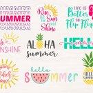 Hello summer bundle Digital Art SVG, PNG, jpg Digital Download