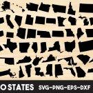50 States United States Digital Art SVG, PNG, EPS, dxf, jpg Digital Download