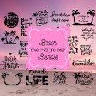 20 Beach Bundle Digital Art SVG, PNG, dxf, jpg Digital Download