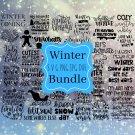 40 Winter Bundle Digital Art SVG, PNG, dxf, jpg Digital Download