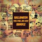 Halloween Bundle Digital Art SVG, PNG, dxf, jpg Digital Download
