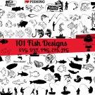 100 Fishing Fisherman Digital Art SVG, PNG, EPS, dxf, jpg Digital Download