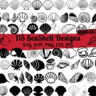 Seashell Bundle Digital Art SVG, PNG, EPS, dxf, jpg Digital Download