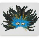 black blue colored feather mask princess and prince butterfly crown Christmas Halloween ball
