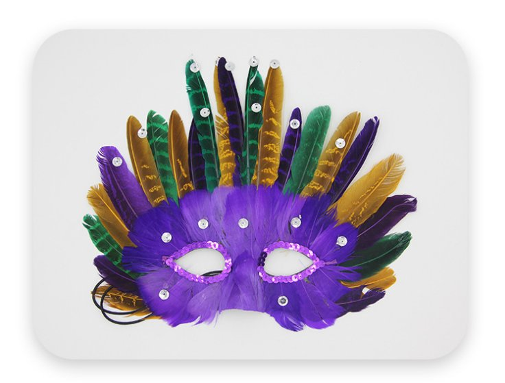 purple color colored feather mask princess and prince butterfly crown Christmas Halloween ball