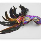 purple sequins colored feather mask princess and prince butterfly crown Christmas Halloween ball