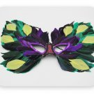 cyan color colored feather mask princess and prince butterfly crown Christmas Halloween ball
