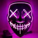 Halloween EL Light Mask Purple Base Cold LED Mask