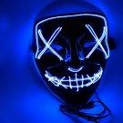 Halloween EL Light Mask Blue Base Cold LED Mask