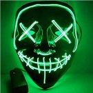 Halloween EL Light Mask green Base Cold LED Mask