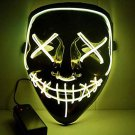 Halloween EL Light Mask Warm Yellow Base Cold LED Mask