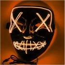 Halloween EL Light Mask Orange Base Cold LED Mask
