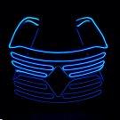 El dazzling fluorescent dance performance flash LED glasses blue