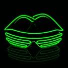 El dazzling fluorescent dance performance flash LED glasses green