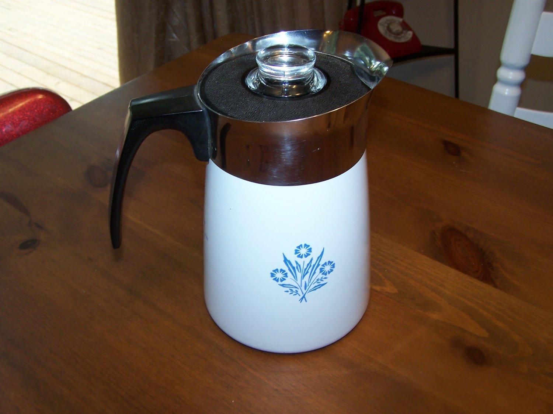 Corning Ware 6 Cup Cornflower Blue Percolator, Stovetop Coffee Pot Corningware