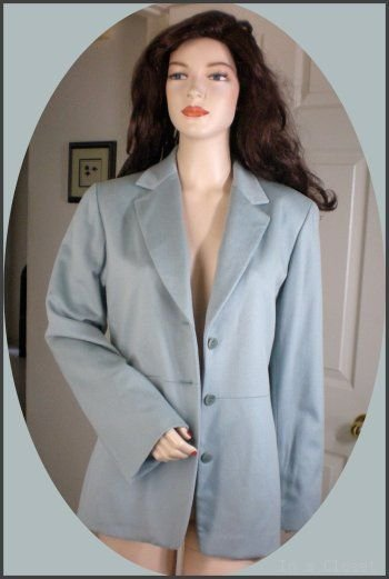 LORO PIANA Neiman Marcus 100% Cashmere Aqua Jacket 12