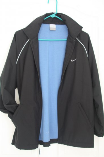 Boy's Nike Windbreaker Jacket ~Black~ Size L-14/16