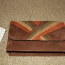 Bellini Brown Suede Clutch