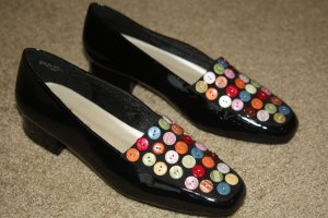 LifeStride Black Patent Leather Flats