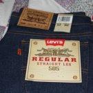 Levi's 505 Straight Leg Regular Fit Jeans ~New~