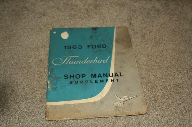 Vintage 1963 Ford Thunderbird Shop Manual