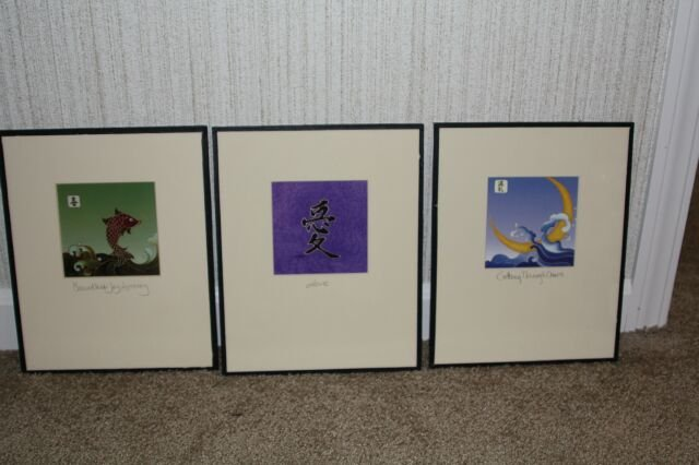 Three Cybil Shane Prints Matted and Framed