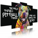 multicolored pittbull canvas wall art, framed wall art, office art