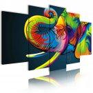 multicolored elephant canvas wall art, framed wall art, office art