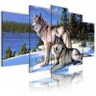 wolf family canvas art, framed wall art, living room art, gallery