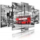 london bus wall canvas art, london cab wall art, piccadilly circle art