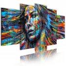 multicolor girl face canvas wall art, gallery art, office wall art