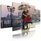 lovers in venice on wall canvas art, 5pcs romantic view wall art