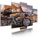 riding motorbike canvas wall art, chopper wall art, cowboy wall art
