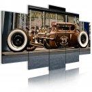 custom vintage car wall canvas printed art, garage wall art, gallery