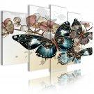 butterfly design canvas wall printed art, 5pcs framed wall art