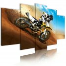 racing motorbike wall art, cross racing wall canvas art, gift for him
