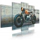 custom vintage motorbike wall art, gift for him, garage wall art