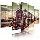 vintage texas train canvas wall art, gift for him, birthday gift