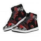 men women custom air force 1 style sneakers, high top shoes, red eye
