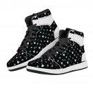 black sneakers, men shoes, women shoes, custom shoes, custom sneakers